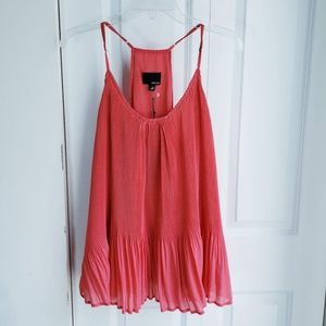 NWT Greilyn Pleated Coral Tank Top